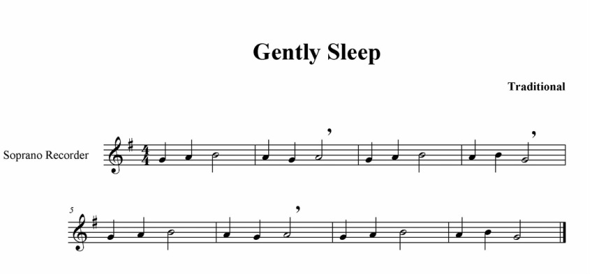 recipe: gently sleep recorder karate [7]